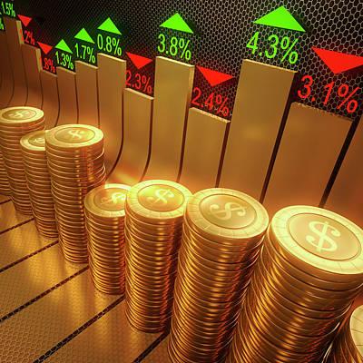 Stock Market Art Print by Ktsdesign