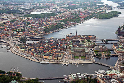 Photograph - Stockholm Aerial View by Lars Ruecker