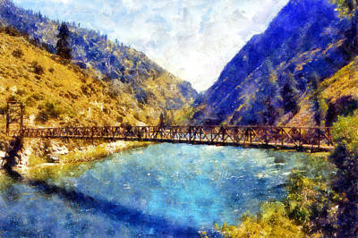 Digital Art - Stoddard Bridge by Kaylee Mason