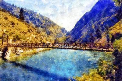 Digital Art - Stoddard Bridge by Kaylee Mason