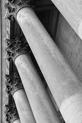 Lawyer Photograph - Stone Pillars And Columns by Brandon Bourdages