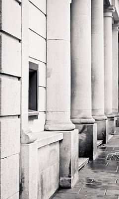 Federal Government Photograph - Stone Pillars by Tom Gowanlock