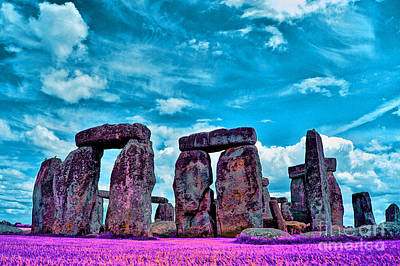 Rock Photograph - Stonehenge In The English County Of Wiltshire by Celestial Images