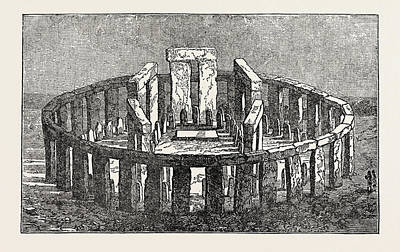 Restored Drawing - Stonehenge Restored by English School