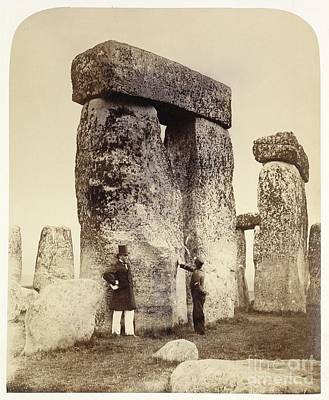 Megalith Photograph - Stonehenge Survey, 1860s by British Library
