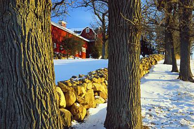 Winter Photograph - Stonewall Farm by Bruce Thompson