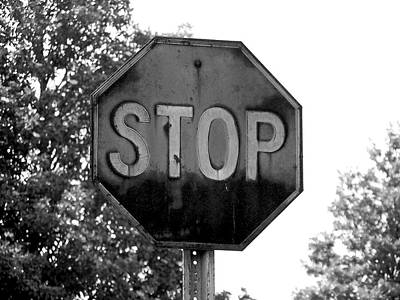 Stop Sign Photograph - Stop by Brandon Addis