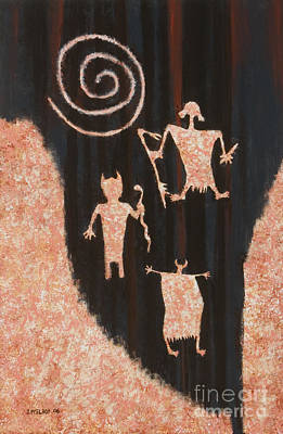 Pictograph Painting - Stories In Stone by Jerry McElroy