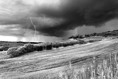 Storm Approcing The Tuscan Countryside Art Print by Yuri Santin