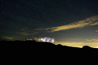 Storm Cloud Looms Over The Mummy Range Art Print