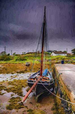 Connemara Digital Art - Storm Coming by Daniel OBrien