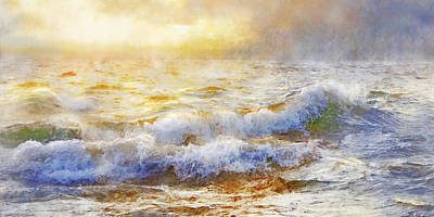 Digital Art - Storm Waves by Francesa Miller