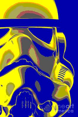 Stormtrooper Helmet 7 Art Print by Micah May