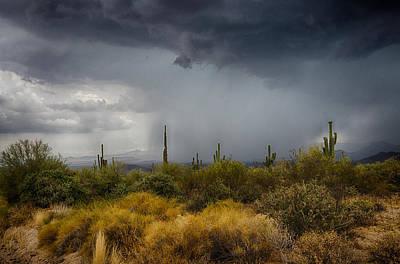 Natural Forces Photograph - Stormy Desert Skies  by Saija  Lehtonen