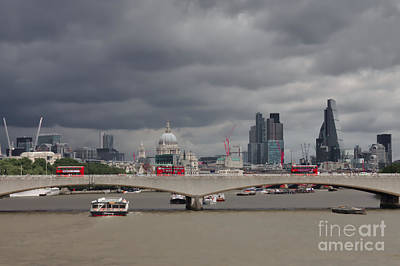 Photograph - Stormy London by Jeremy Hayden