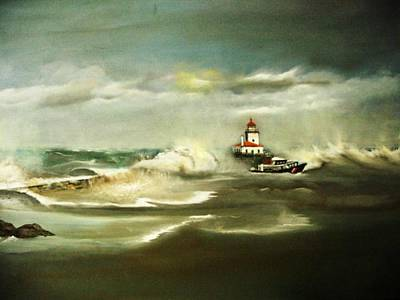 Stormy Art Print by Pamela Powers