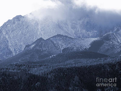 Steve Krull Royalty-Free and Rights-Managed Images - Stormy Peak by Steve Krull