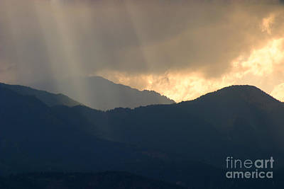 Steven Krull Royalty-Free and Rights-Managed Images - Stormy Pikes Peak by Steven Krull