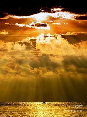 Sean Rights Managed Images - Stormy sunset Royalty-Free Image by Sinisa Botas