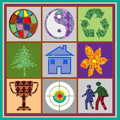 Couple Mixed Media - Story Line Happy Couples Happy Homes Focus Award Reward Green Balance Growth World  Signature Style  by Navin Joshi