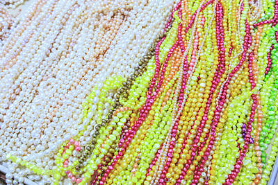 Freshwater Pearls Photograph - Strands Of Fresh Water Pearls Store by Stuart Westmorland