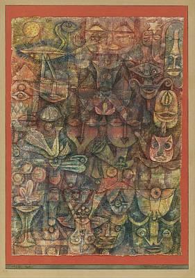Strange Garden Art Print by Paul Klee