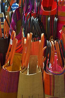 Photograph - Straw Bags Colors by Dany Lison