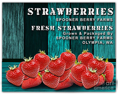 Strawberry Farm Art Print by Marvin Blaine
