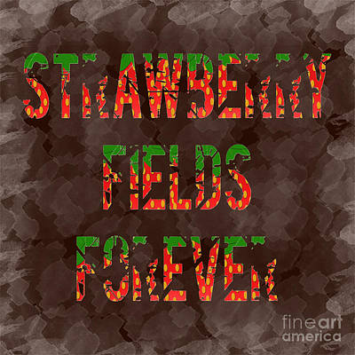 Digital Art - Strawberry Fields Forever 1 by Andee Design