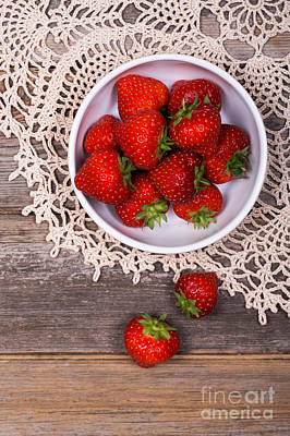 Lace Photograph - Strawberry Vintage by Jane Rix