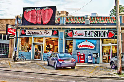 Strawn's Eat Shop Art Print by Scott Pellegrin