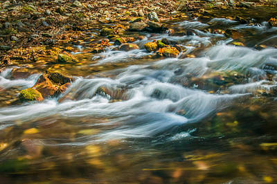 Photograph - Stream Fall Colors Great Smoky Mountains Painted  by Rich Franco