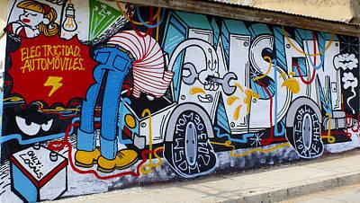 Street Art Valparaiso Chile 15 Art Print by Kurt Van Wagner