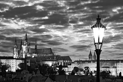 Street Lamp On The Charles Bridge / Prague Art Print by Barry O Carroll