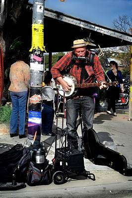 Photograph - Street Musician by Kristina Deane