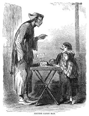 Northeast Drawing - Street Peddler, 1868 by Granger