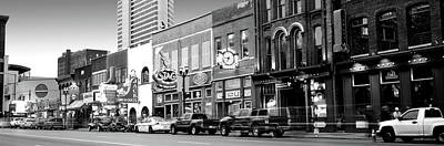 Davidson County Photograph - Street Scene At Dusk, Nashville by Panoramic Images