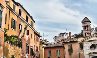 Trastevere Photograph - Street Scene From Trastevere District Of Rome by Frank Bach