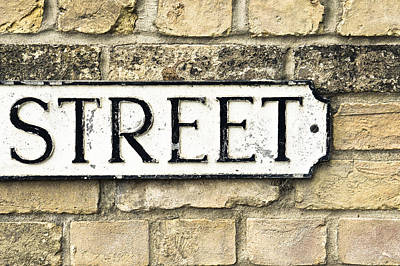 Street Sign Art Print by Tom Gowanlock