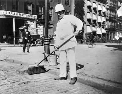 Street Sweeper, C1896 Art Print