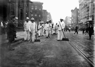 Street Sweepers, 1911 Art Print