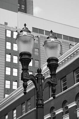 Streetlight Photograph - Streetlights - Lansing Michigan by Frank Romeo