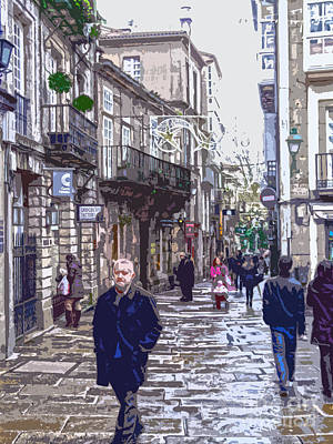 Digital Art - Streets And People by Andrew Middleton