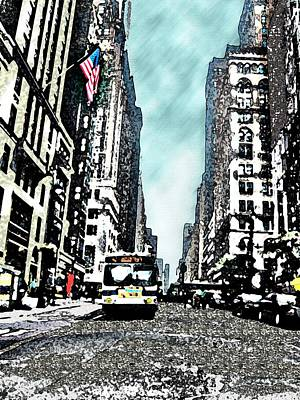 Historical Photograph - Streets Of New York City 13 by Mario Perez