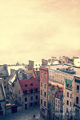 Canadian Heritage Photograph - Streets Of Old Quebec City by Edward Fielding