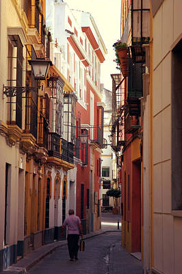 Summer Photograph - Streets Of Seville - Spain - Calle Abades by Andrea Mazzocchetti