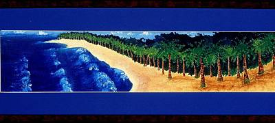 Painting - Strip Series - Beach by Karen Buford