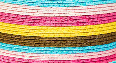 Crochet Thread Photograph - Striped Fabric by Tom Gowanlock