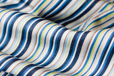 Cotton Paper Photograph - Striped Material by Tom Gowanlock