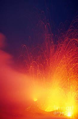 Lipari Photograph - Stromboli Volcano by Stephen & Donna O'Meara